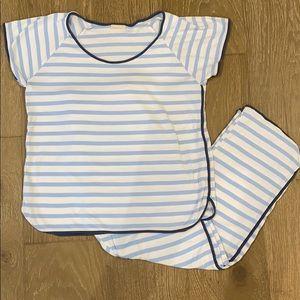 LAKE pajamas short-sleeve with pant set